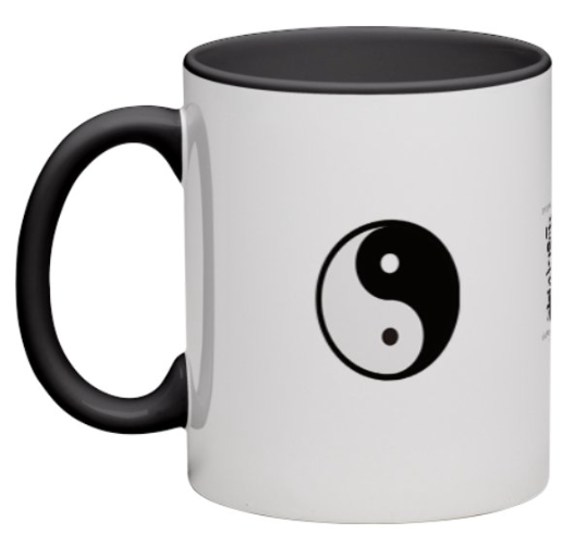 Spirit of Reiki Becher Yin Yang weiß